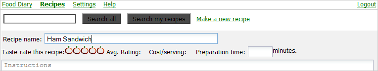 Type the recipe title.
